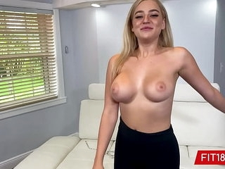 FIT18 - Blake Blossom Returns For Second Casting Showing Off Her Big Natural Breasts And Tattoo Free Thicc Body >12 min