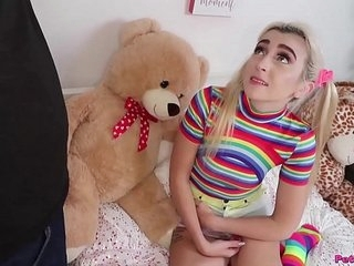 Pigtails and Rainbows - Petite Teen Fuck 6 min