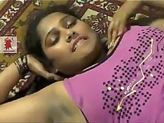 Telugu Desi girl enjoys foreplay showing naval and dark shaved armpits.MP4